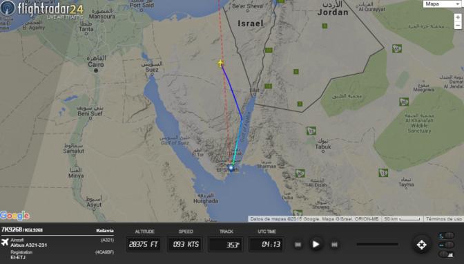 Avión con 224 personas a bordo se estrella al sur de la península de Sinaí