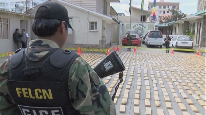 Autoridades bolivianas decomisan 147 kilos de cocaína en zona del Silala