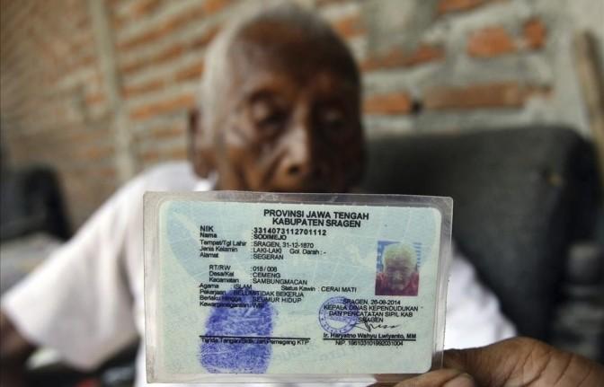A los 146 años, murió el indonesio que aseguraba que nació en 1870