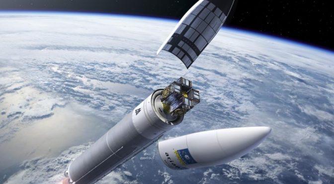 Un cohete Ariane 5 pone en órbita un satélite brasileño y otro surcoreano
