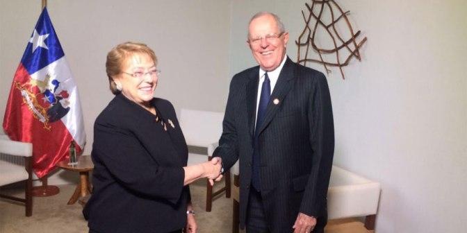 Kuczynski y Michelle Bachelet encabezan Primer Gabinete Binacional