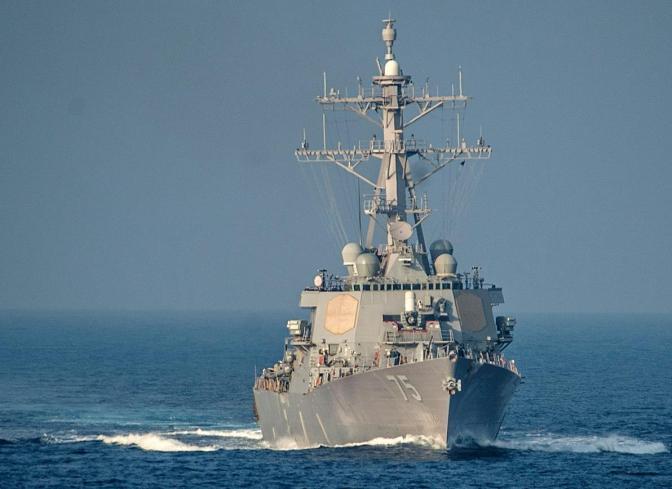 Buque estadounidense disparó contra barco del Ejército de Irán en el Golfo Pérsico