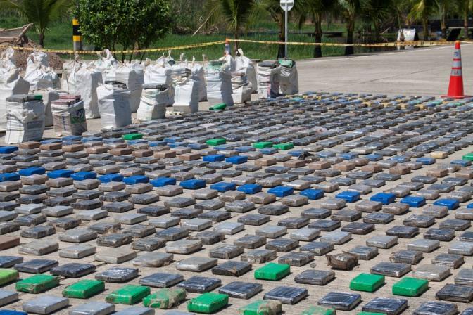 El 92% de la cocaína incautada en EE.UU. en 2016 vino de Colombia, según la DEA